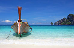 Thai longtail boat on Phi Phi island Royalty Free Stock Images