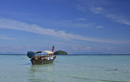 Thai longtail boat in the sea Royalty Free Stock Photo