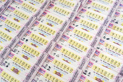 Thai lottery Stock Image