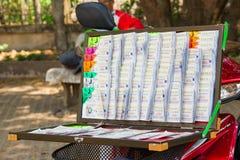 Thai lottery ticket Stock Photos