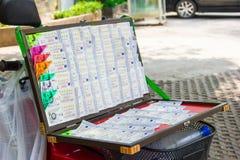 Thai lottery ticket Royalty Free Stock Photos