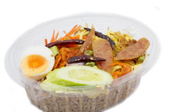 Thai lunch box. Stock Photos