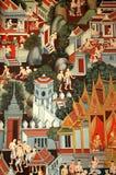 thai målningar Arkivbild