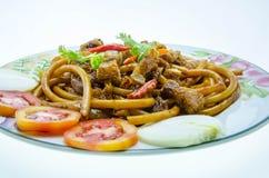 Thai macaroni isolated on white background Royalty Free Stock Image