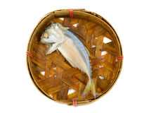 Thai Mackerel on bamboo basket Royalty Free Stock Photo