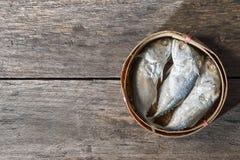 Thai mackerel in basket stock photo