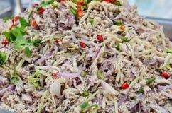 Thai mackerel salad Royalty Free Stock Photos