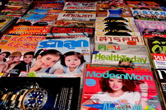 Thai Magazines Royalty Free Stock Images