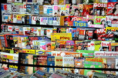 Thai Magazines at News Stand royalty free stock image