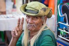 Thai man living in a poor district of Bangkok Klong Toe. Thailand Royalty Free Stock Photos