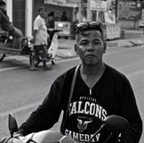 Thai man in the street Royalty Free Stock Image