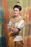 Thai man wearing typical Thai dress, identity culture of Thailan Stock Photography