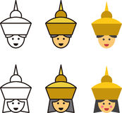 THAI man and woman icons Royalty Free Stock Images