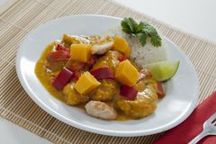 Thai mango chicken Royalty Free Stock Photography
