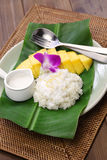 Thai mango sticky rice, khao niaow ma muang Stock Photography