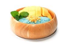 Thai Mango Sticky Sweet Rice Dessert Royalty Free Stock Photography