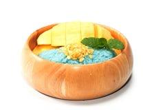 Thai Mango Sticky Sweet Rice Dessert Stock Photography