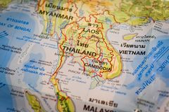 Thai map And Asia map stock image. Image of background - 106988735