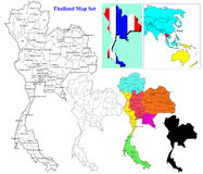 Thai map set Stock Image