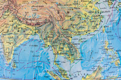 Thai map stock photos
