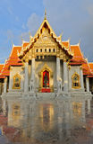 Thai marble temple Royalty Free Stock Image