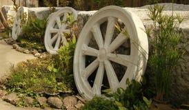Thai Marble Wheel of Dhamma. Stock Photos