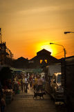 Thai market. Busy thai market in the morning Royalty Free Stock Images
