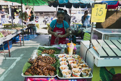 Thai market products and fruits a lot of greenery Royalty Free Stock Photo