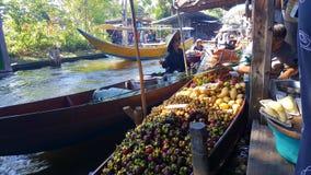 Thai market. On the river. Thailand, Bangkok royalty free stock photo