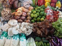 Thai market vegetables. Chang mai thai market, traditional vegetables Stock Photos