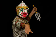 Thai mask dance Royalty Free Stock Image