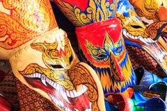 Thai masked festival Royalty Free Stock Photo