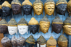 Thai masks souvenirs Royalty Free Stock Photo