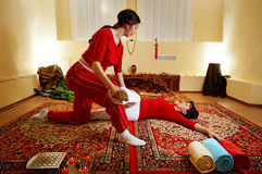 Thai massage stock photos