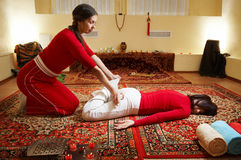 Thai massage royalty free stock photos