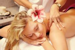 The Thai massage stock photo