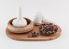 Thai Massage Balls with Dried Herbs Royalty Free Stock Photography