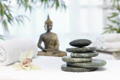 Thai massage with massage stones Stock Photos