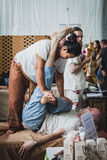 Thai massage at Orient Festival in Milan, Italy Stock Images