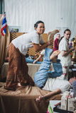 Thai massage at Orient Festival in Milan, Italy Stock Photo