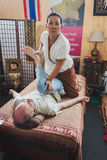 Thai massage at Orient Festival in Milan, Italy Stock Photography