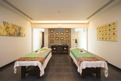 Thai massage room in spa Royalty Free Stock Image