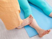 Thai massage session Stock Image