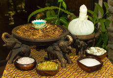 Thai massage and spa accessories Royalty Free Stock Photos