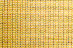 Thai Mat Yellow. A Traditional Wallpaper for thailand Stock Images