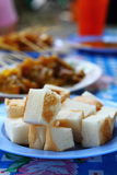 Thai meat satay Royalty Free Stock Images