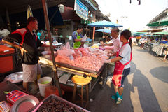 Thai meat shop Royalty Free Stock Photos