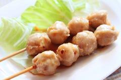 thai meatball Fotografering för Bildbyråer