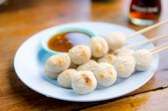 Thai Meatball in dish Stock Images