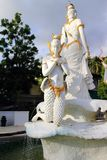 Thai mermaid statue. The image of mermaid statue on the road in stock photo